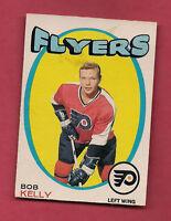 1971-72 OPC # 203 PHILADELPHIA FLYERS BOB KELLY ROOKIE CARD
