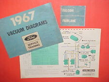 1967 FORD FALCON FAIRLANE 500 GT RANCHERO FACTORY ORIGINAL A/C VACUUM DIAGRAMS