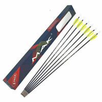 6X 26'' Solid Fiberglass Arrows Archery Practice Fletches Target Sports Shooting