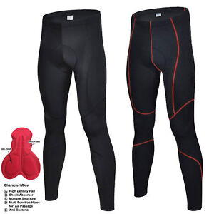 Mens Compression Cycling Tights Padded cycle trouser  long pant Racing Sports