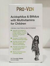 PRO-VEN ACIDOPHILUS & BIFIDUS WITH MULTIVITAMINS FOR CHILDREN 30 CHEWABLE TABLET