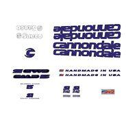 CANNONDALE CAAD 5 Cuadro de Bicicleta Adhesivos - DECALS - Transfers: NEGRAS