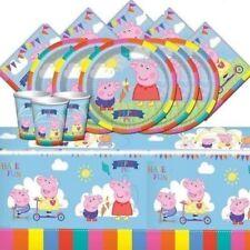 Decoración y menaje para mesas de fiesta de Peppa Pig