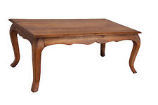 Coffee Table Rustic Antique Traditional Solid Acacia French Style Oak Finish