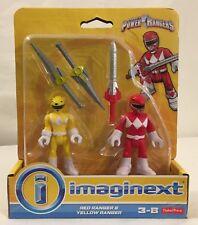 Imaginext Power Rangers Red & Yellow Power Ranger Fisher Price mini figure set