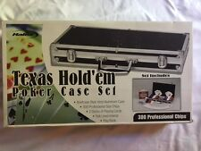 Texas Hold 'em Poker Case Set, w/aluminum briefcase and prof. size chips