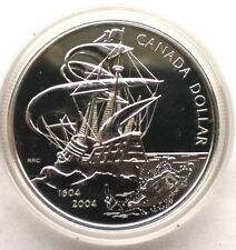 Canada 2004 First French Settlement Dollar Silver Coin,Prooflike