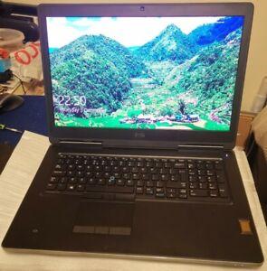 💫Powerful💫 Dell Precision 7720 i7-7920HQ 16GB 500GB NVMe 1TB 17.3 UHD P3000 6G