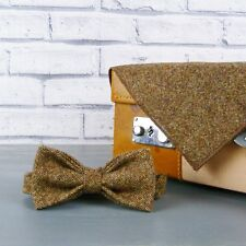 Yorkshire Birdseye Tweed Bow Tie and Pocket Square - Brown