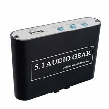 AC3 DTS HD Audio Gear Sound Decoder Stereo Digital LPCM To 5.1 Analog Output 2.1