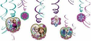 Disney Frozen Party Supplies Hanging Swirl Decoration (Pack of 12)