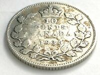 1936 Canada 10 Ten Cent Silver Dime Canadian Circulated George V Coin L492