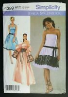 Simplicity Jessica McClintock Dress Wrap Pattern 4399 Size 8 10 12 14 16 UNCUT