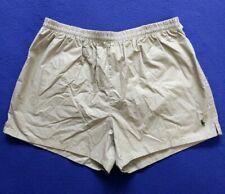 "Vtg Polo Ralph Lauren Swim Trunks Short 3"" inseam USA Khaki Beige Pony Logo"
