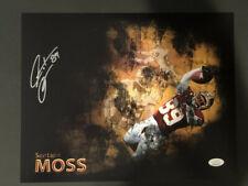 Washington Redskins, Santana Moss signed 11x14 Custom Photo w/JSA