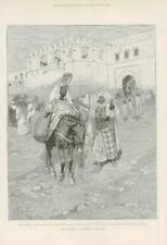 1891-ANTIQUE PRINT Fine Art Le bouc émissaire Romance Hall Caine Kasba (103)