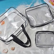 Toiletry Bags 3 in 1 Gift Makeup Bags & Cases Plastic Bag Clear PVC Travel Bag