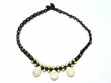 Ladies White Stone Teardrop Bead Ankle Bracelet Foot Anklet Hippy Boho Handmade