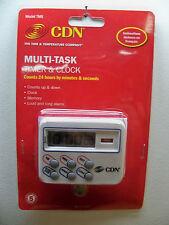 NEW CDN TM8 MULTI-TASK COOKING KITCHEN TIMER & CLOCK  24 HR FREE 1ST CLS S&H