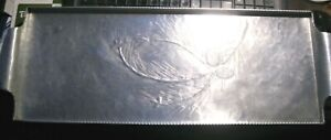 VINTAGE HAND FORGED ALUMINUM ''EVERLAST'' METAL TRAY WHEAT DESIGN 23'' BY 8''