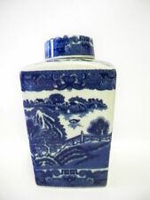 Unboxed Flow Blue Transfer Ware Pottery Jars