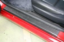 BLACK CARBON FIBRE Effect Door Step Sill Protectors fits BMW (02B)