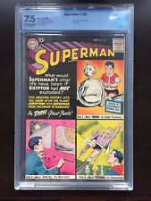 SUPERMAN #132 CBCS VF- 7.5; OW-W; classic imaginary story; robot cover!