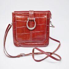 Brighton Women Size S Red Leather Crossbody Bag