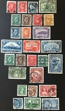 CANADA 1932-1935 - #s 191-216  KING GEORGE V - SEVERAL ISSUES - 27 USED STAMPS