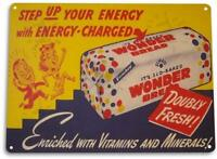 """Wonder Bread Energy"" Metal Decor Art Kitchen Cottage Farm Store Sign"