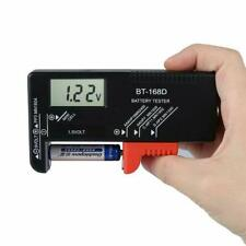 Digital Universal Battery Tester Fits AA AAA C D 9v and Button Cells LCD Display