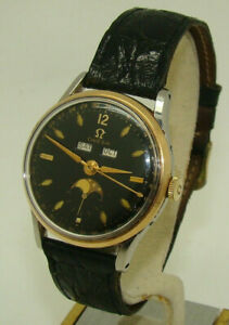 RARE VINTAGE OMEGA COSMIC TRIPLE-DATE MOONPHASE 35mm Cal. 381 WATCH C. 1950