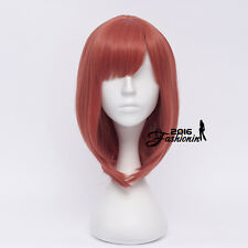 35CM Red Wavy Anime for Love Live! Nishikino Maki Short Bangs+Cap Cosplay Wig