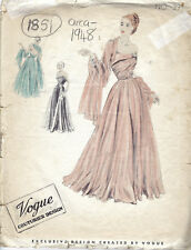 "1948 Vintage VOGUE Sewing Pattern B34"" EVENING DRESS & SCARF (1851)"