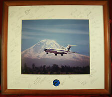 AWESOME Delta Airlines ALPA Captain Retirement Gift Massive Signed 727 Photo