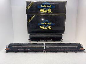 Weaver Gold Southern Pacific Black Widow E-8 ABA Diesels Used O Gauge Power AA