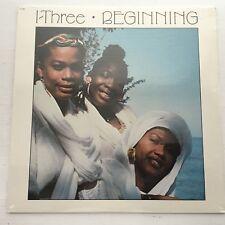 I THREE BEGINNING LP SEALED 1986 EMI VINYL RECORD