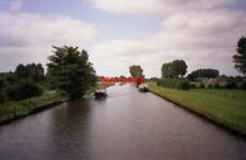 PHOTO  NETHERLANDS OUDEWATER 1989 CANAL BRIDGE FULLY OPEN