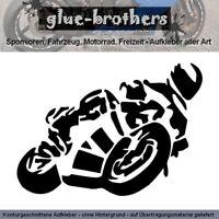 Motorradfahrer Aufkleber 15x10cm,Knieschleifer, Auto, Motorrad ,Sticker,Farbwahl