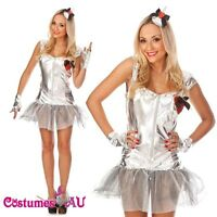 Ladies Queen of Hearts Costume Alice In Wonderland Fancy Dress UP Full Outfit