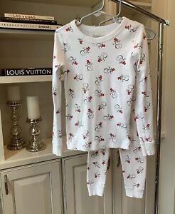 Skylar Luna Children's White Snowman Christmas Pajamas Size 5 Boys/Girls
