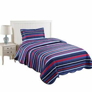 2pcs Kids Quilt Bedspread Comforter Set Throw Blanket for Boys Girls Quilt, A15