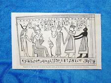Gravure Année 1862 - Fragment du rituel funéraire des anciens Egyptiens