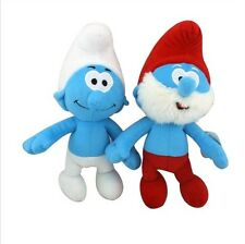2-x X'mas Fun Gift THE Smurfs Set Papa & Clumsy Doll Plush So Soft Smurf US