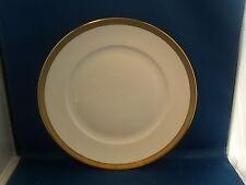 Richard Ginori Italian White & Gold Porcelain Dinner Plate Gilt Ponte Vecchio