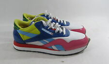 Reebok Men's CL Nylon RBC Patent White 1-164089   SIZE 10 p