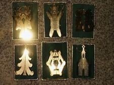 6 Rare Vintage 1977 Danbury Mint 20K Gold Ornaments Beautiful w/ Box