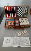 6 In 1 Travel Game Set Chess, Checkers, Backgammon, Cribbage, Dominoes & Cards