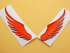 Red Angel Eagle Wing Emblem Badge Decal Motorcycles Fuel Gas Tank Fairing Custom