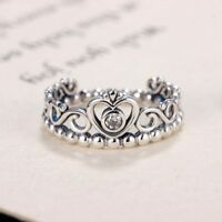 Fashion Plated Silver Color Pandora Ring Princess